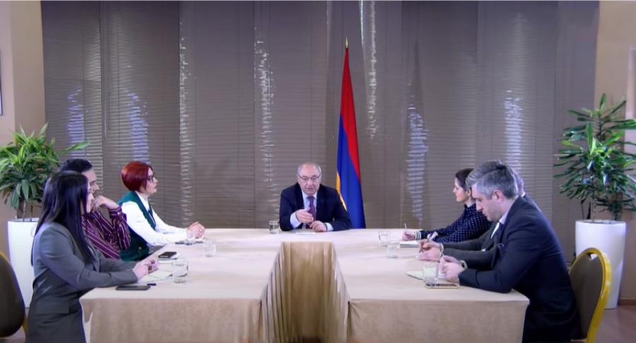 Վազգեն Մանուկեանի Հարցազրոյցը Հայաստանեան 6 Հեռուստաընկերութիւններին՝