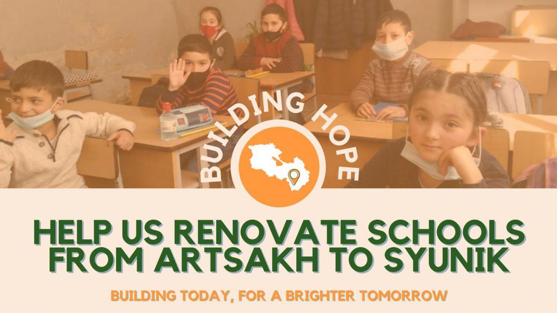 Fundraiser Launched to Renovate Schools in Artsakh, Syunik