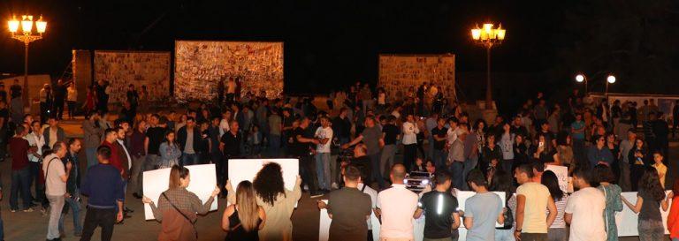 Protest Organized by Artsakh AYF